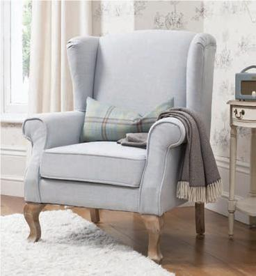 Leonora wingback pale blue chair product code 5055299464670