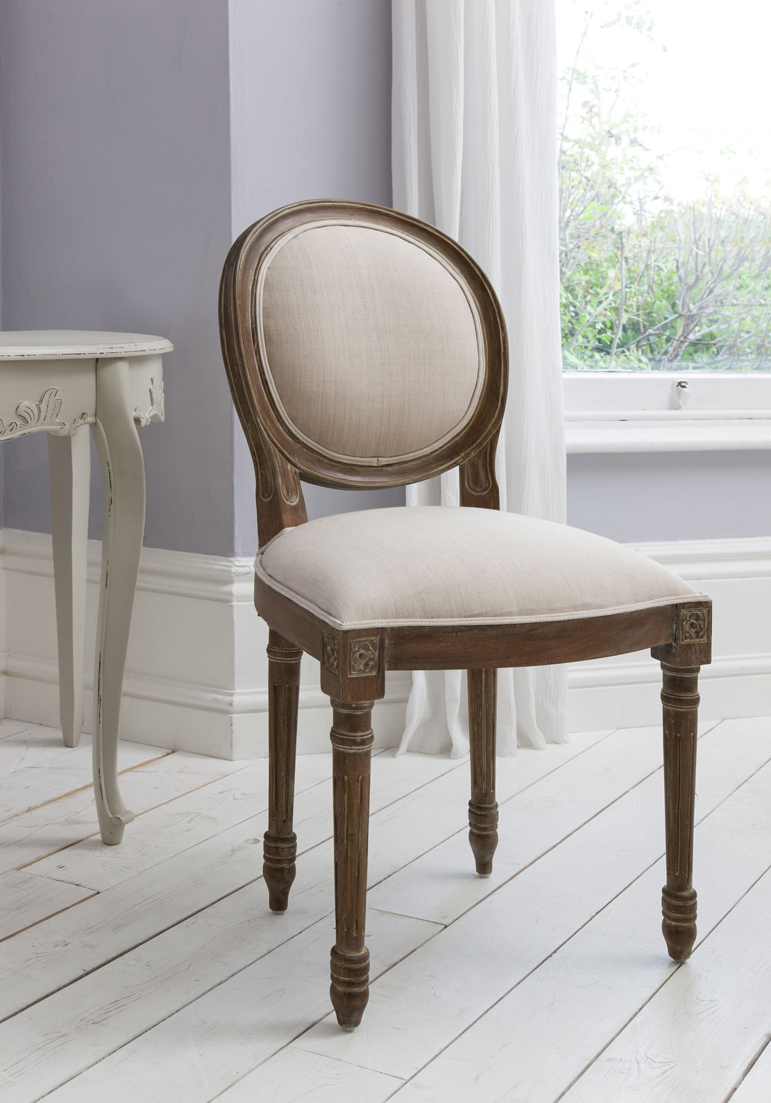 Maison Balloon Back Chair Weathered Frame 5055299491256