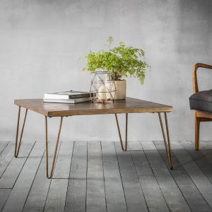 Pompeii coffee table with pin legs