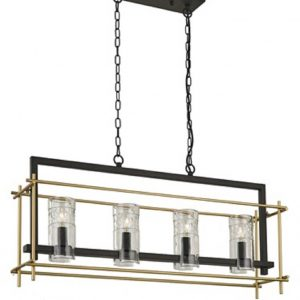 Ceiling Bar in Antique finish Ironwork and matt gold from Aspire Design €959