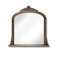 Antiqued Gold Over Mantle Mirror 15322