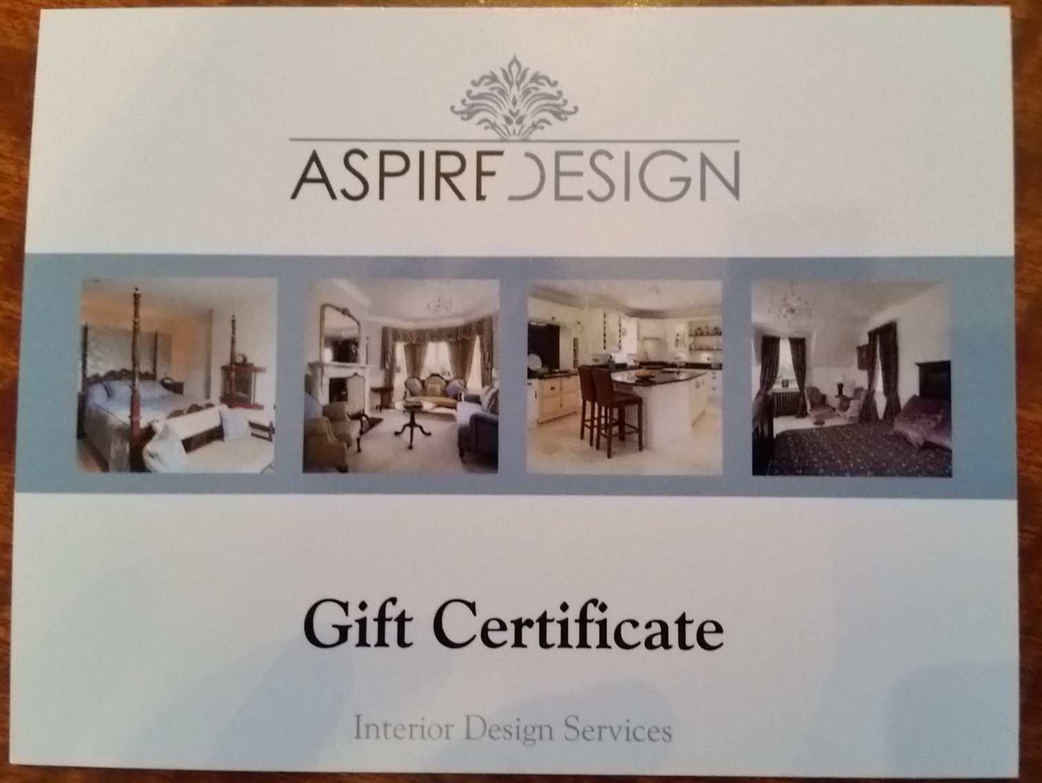 Interior design consultation in your home aspire design for Interior design gifts